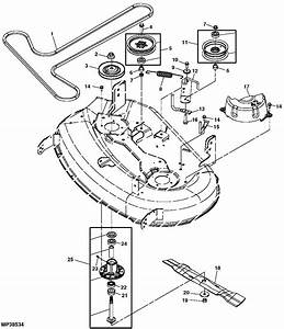 Need A Belt Diagram For The Z224 From Clutch To Mower Deck