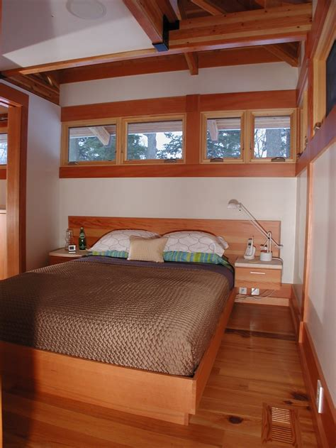 lakeside michigan cottage interior view  built  bed