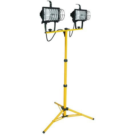 home depot standing ls lithonia lighting 2 light halogen portable tripod stand