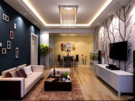 pop ceiling decor in living room with simple designs