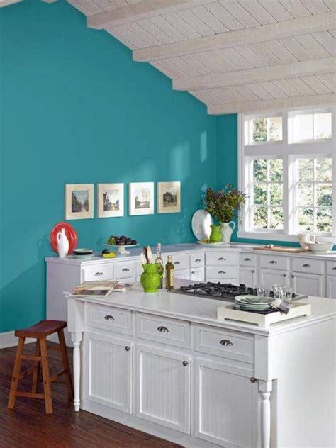 cuisine turquoise et gris peinture cuisine 40 idées de choix de couleurs modernes