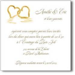 d invitation mariage invitation mariage coeurs or ou coeurs argent