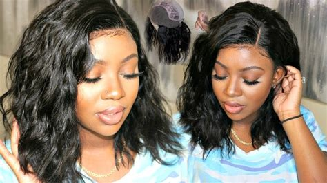 The Most Natural Looking Wavy Bob Lace Front Wig| Rpghair