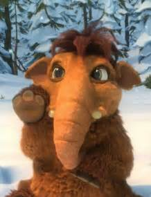 Ice Age Peaches as a Baby