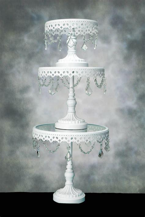 crystal cake stands pedestal set