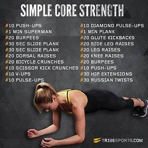 Running Tips: Simple Core Strength Training Exercises ...