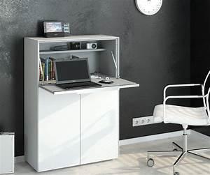 Sekretär Weiß Modern : sekret r highboard kommode mit integriertem schreibtisch mod mj124 wei glas ebay ~ Orissabook.com Haus und Dekorationen