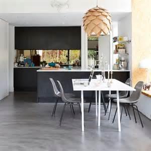 darby butchers block marble top grey floors kitchen