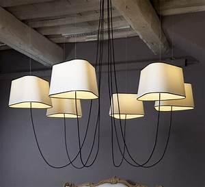 Grand Lustre Design : lustre grand nuage blanc noir 203cm designheure ~ Melissatoandfro.com Idées de Décoration