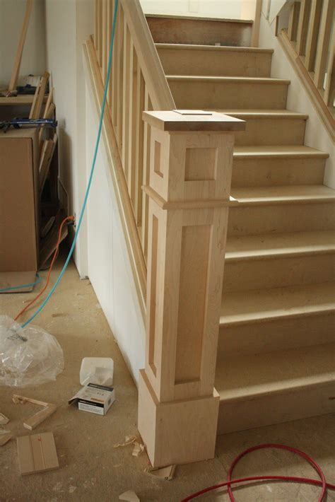 attractive  newell post added   remodel staircase remodel home remodeling renovation