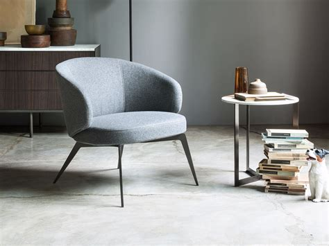 Upholstered Fabric Easy Chair With Armrests Bice By Lema