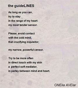 The Guidelines Poem By Onelia Avelar