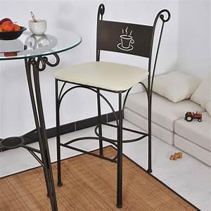 Chaise Fer Forgé : chaise haute en fer forg hauteur 110 cm set de 2 ~ Teatrodelosmanantiales.com Idées de Décoration