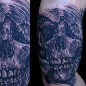 #tattoo #blackandgray #realistic #skull | Tattoos ...