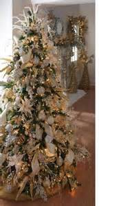 white and gold christmas trees pinterest