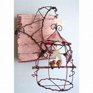 Fabriquer Un Treillage En Fil De Fer : pingl par ingrid gloux sur fil de fer pinterest wire art wire et cage ~ Voncanada.com Idées de Décoration