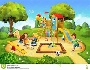 Park, Playground Background Stock Vector - Illustration of ...