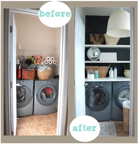 A Renter's Laundry Room Makeover