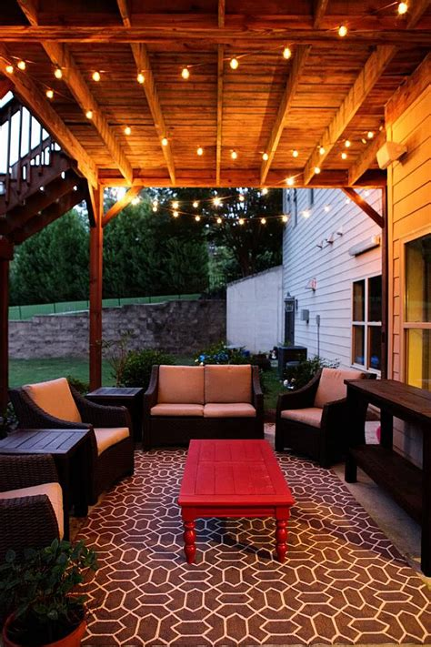 how to string lights outside 5fa173a8639ed0b795dc42a3d5f4823d chic outdoor patio string