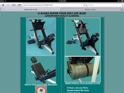 tds leg press hack squat   lbs olympic weights  sale  rome  york classified