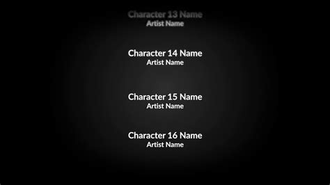 tv credits template end credits film titles premiere pro templates youtube