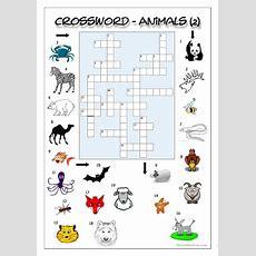 Crossword  Animals 2  English Esl Worksheets
