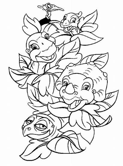 Coloring Pages Land Before Dinosaur Printable Colouring