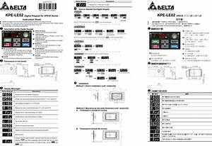 Delta Digital Keypad Kpe Le02 Users Manual 5011666101 K201