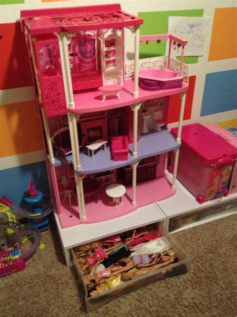 plastic storage drawers   barbie dream houseso