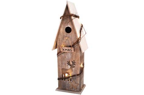 Holzhaus Beleuchtet Deko by Deko Holzhaus Mit Led Beleuchtung 43 Cm Weihnachten