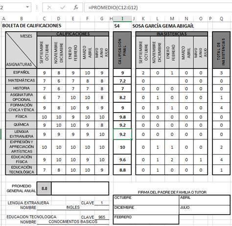 Boleta De Calificaciones De 1 De Primaria 2015 2016