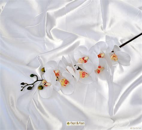 fiori artificiali real touch fiore artificiale phalaenopsis real touch bianco per