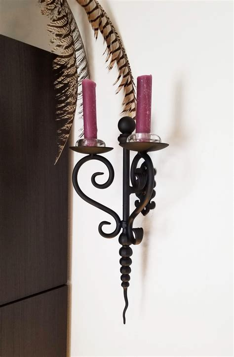 Iron Candle Sconce by Wrought Iron Wall Sconce Unique Craftsmanship In Handmade