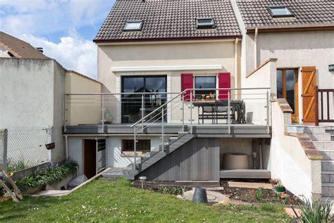 nivrem garde corps terrasse bois pas cher diverses id 233 es de conception de patio en bois