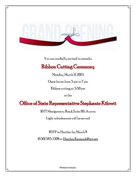 sle invitation letter to ribbon cutting ceremony ideas for invitation to a ribbon cutting ceremony 84897