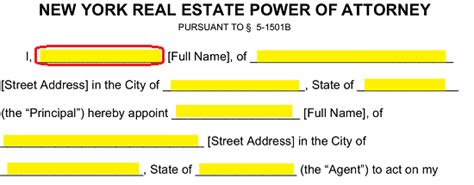 blank power of attorney form ny free new york real estate power of attorney form pdf