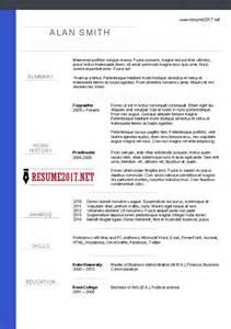 new resume sles 2017 chronological resume format 2017