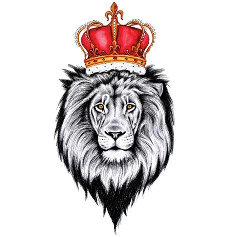 tatouage ephemere roi lion