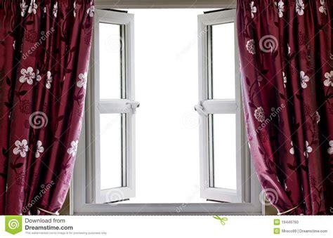 puste zas蛯ony otwieraj艱 widok okno zdj苹cie stock obraz