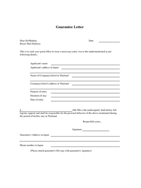Letter of Guarantee - 2 Free Templates in PDF, Word, Excel