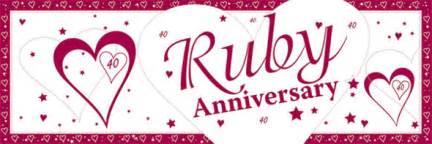 ruby wedding anniversary 40th wedding anniversary supplies delights