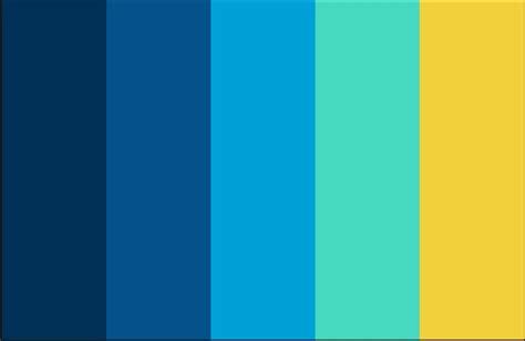 Color Scheme Yellow Sky Blue Navy Schemes Pinterest