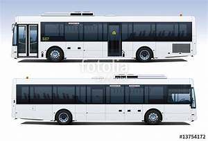 """""""City Bus Side Profiles"""" Stock image and royalty-free ..."""