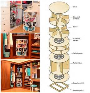 Rotating Closet Carousel this diy lazy susan shoe rack is just awesome for shoe storage