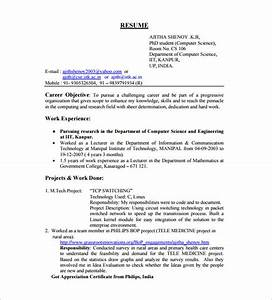 resume template for fresher 10 free word excel pdf With how to prepare resume for freshers in engineering