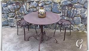 Gartentisch Metall Rund : romantischer gartentisch theo ~ Yasmunasinghe.com Haus und Dekorationen