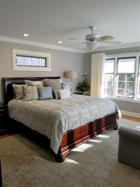 master bedroom  oak floor   trim rooms