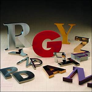 fabricated metal sign letters With gemini metal letters