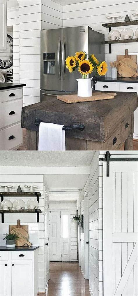 Kitchens With Shiplap Walls by Shiplap Wall And Pallet Wall 30 Beautiful Diy Wood Wall