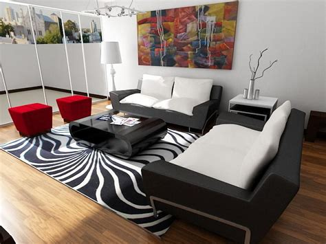 sala comedor  diseno muebles en cuerpo de cuero negro